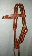 Leather Headstall Hermann Oak Leather Bridle Western Trail Riding COB