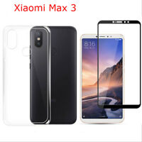 For Xiaomi Mi Max 3 Full Coverage 9H Tempered Glass Screen Protector Guard Case