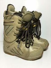 Burton sapphire women size 7 snowboard boots Tan Striped Custom Fit EUC