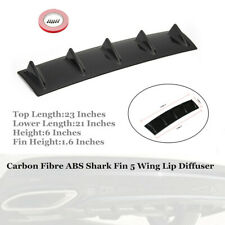 "Black ABS Shark Fin 5 Wing Lip Diffuser 23"" x6""Rear Bumper Chassis+ Sided Tape"