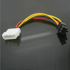 New 4 Pin Molex to 6 Pin PCI-E Power Supply Cable Adapter 12cm