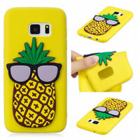 For Samsung Galaxy Phones 3D Silicone TPU Soft Back Case Rubber Protective Cover