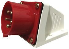 16a Amp 415v di superficie di aspirazione spina maschio rosso 3 fase ht515 Connettore di Alimentazione Macchina