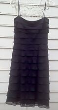 TADASHI Frilly Ruffles Black Dress Sz 4