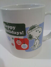 Peanuts Happy Holidays Snoopy Christmas Coffee Mug Cup
