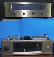 TWO Old MONO Tube Tuners Fisher FM-50 and FM-80 TUNER AS IS FOR PARTS