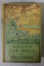 ROUND THE MOON by JULES VERNE - H/B - SAMPSON LOW -  £3.25 UK POST