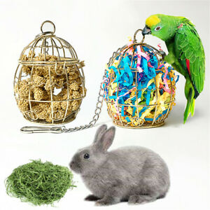 Bird Shredder Toys Stainless Steel Cage Paper Foraging Parrot Fruits Food Basket
