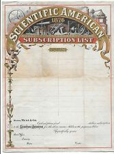 Unmarked 1876 Scientific American Subscription List-See Scans!