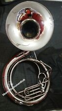 "SOUSAPHONE BIG BELL SIZE 25"" IN CHROME POLISH OF PURE BRASS+FREE CASE +FREE SHIP"