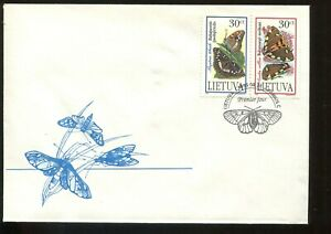FAUNA_104 1995 Lithuania butterflies FDC COVER Combined payments & shipping