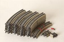 Märklin H0  Metallgleise M-Gleise 46 Stück gebogene und kurze Gleise (154042)