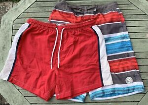 Boys 13 Years Ocean Pacific Mesh Lined Swim Shorts + Brave Soul M Shorts