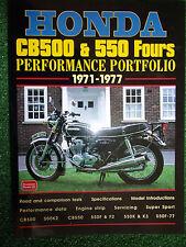 HONDA CB500 CB550 PORTFOLIO SPECS DATA ENGINE REBUILD TIPS ROAD TESTS MANUAL  77