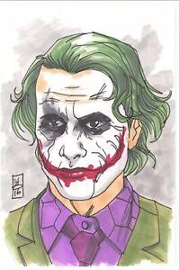 Original Comic Art - The Joker Heath Ledger Halloween