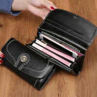 Genuine Leather Women's Vintage Long Wallet/Clutch ID Card Holder Phone Holder