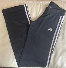 Black Adidas Wide Leg Tracksuit Bottom Leggings Lounge Pants Size 12L