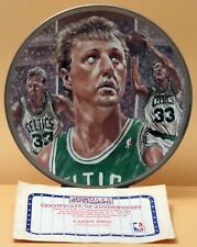 NBA Basketball Superstar Collector Plate Series : Larry Bird, Celtics. Ltd Ed