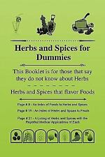 Herbs and Spices for Dummies by Alton J. Bradley (2010, Paperback)