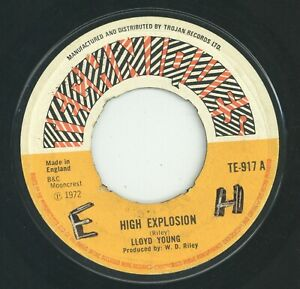 """"""" HIGH EXPLOSION. """" lloyd young. TECHNIQUES 7in 1972."""