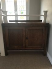 Antique Vintage Dark Oak Country Farmhouse Sideboard Cabinet