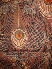 "VTG brown hues LIBERTY ""HERA "" CLASSICS RANGE VARUNA WOOL  23cmx20cm"