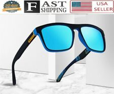 Men Sunglasses Blue Mirror Reflective Lens Polarized Sport Fishing Golf Shades