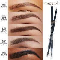 PHOERA 2in1 Drawing Eye Brow Eyeliner Waterproof Eyebrow Pen Pencil + Brush