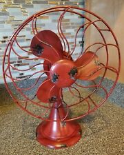 New Metal Lightweight Red Fan Display Decor retro old vintage style stand