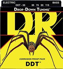 DR DDT-55 BASS Guitar Strings (55-115) heavy gauges 55-115