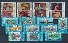 LM91244 Nicaragua olympics paintings fine lot MNH