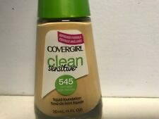 Covergirl Clean Sensitive Foundation 545 Warm Beige  Loc 7A. NEW