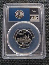 2000-S 25c Virginia CLAD Quarter Proof PCGS PR70DCAM State Flag Label