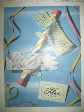 PUBLICITE DE PRESSE FILEX GANTS NYLON FRENCH AD 1955
