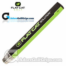 FLAT CAT® SOLUTION FAT - 12 Inch Jumbo Putter Grip - Black / Green + Tape