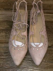 sandals 39 12 9.5 Barneys New York Lace Up flats vintage inspired gladiator