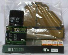 Yamaha YZF600 Sporenstammzellen Service Kit (Luft/Öl Filter und 4 X Zündkerzen)