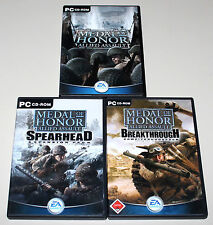 MEDAL OF HONOR ALLIED ASSAULT & ADD ONS - BREAKTHROUGH & SPEARHEAD - PC SAMMLUNG