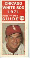 1971 Chicago White Sox Baseball Media Guide  Chuck Tanner Fair Condition