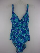 9daaf9dfef26c Vintage Maxine Of Hollywood Women s Size 12 Swimsuit Blue Green Floral