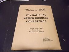 Dallas Police 1967 Armed Robbery Conference Packet Walter Hudson Badge # 690