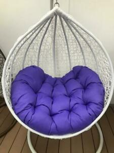 Extra Large Purple Egg chair Cushions - extra comfortable