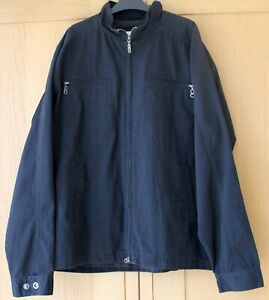 Mens Harrington Jacket JAG Black Zip Up Breast Pockets Cotton L Pit to Pit