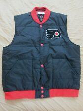 Nwt Mitchell & Ness Nhl Philadelphia Flyers Black Vest Jacket Retro Men's 2Xl