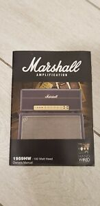 Marshall 1959hw handwired plexi head Guitar Amplifer Original Manual
