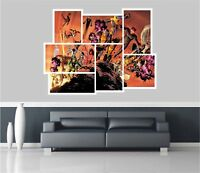 Huge Collage View Super Hero Comic Wall Stickers Mural Wallpaper 182