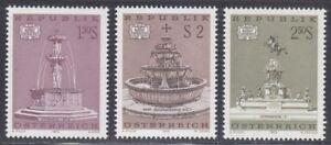 Austria 1972 MNH Mi 1382-1384 Sc 916-918 Fountains