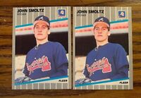 1989 Fleer #602 John Smoltz RC - Braves (2)