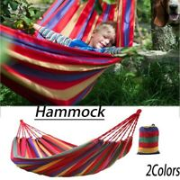 UK Garden Hammock Portable 2 Person Outdoor Hammock Hiking Camping Sleeping Bag