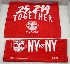 New York Red Bulls Soccer Rally Towel Set of 2 from 2015 NY vs NY & 25,219 ST09